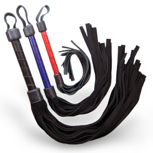 Adrenaline Leather Flogger Whip